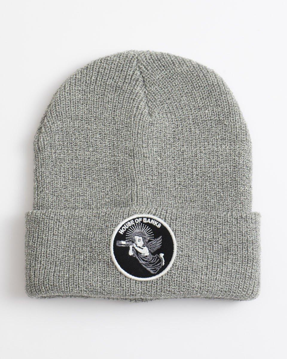 size 40 1f3ad 54c65 house of banks beanie grey   Clothes   Cap   Winter Cap   Skateshop Miniramp .pl