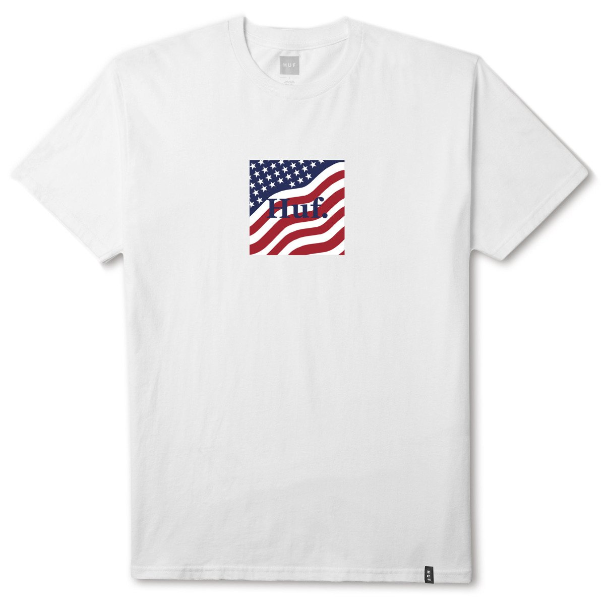 7141ba0138 huf apparel flag box logo white white | Clothes \ T-shirts \ T-Shirts  Brands \ HUF SALE \ Sale - 40% \ T-Shirts Odzież \ HUF \ collections 4th Of  July ...