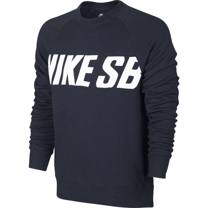 aa20222ca1d20 Bluza Nike SB Everett Motion Crew Obsidian white navy