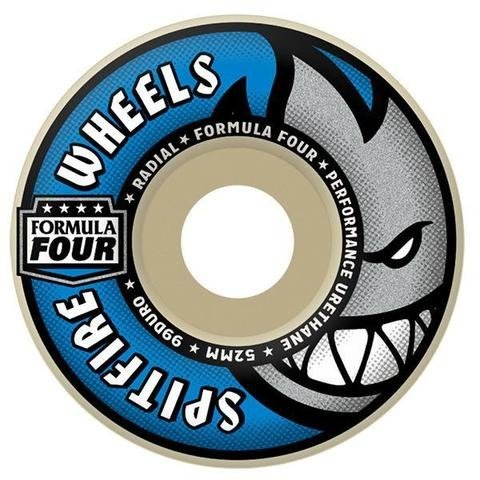ebeb4b6bea4 SPITFIRE Formula Four Skateboard Wheels Classic Shape 50mm 99 duro ...