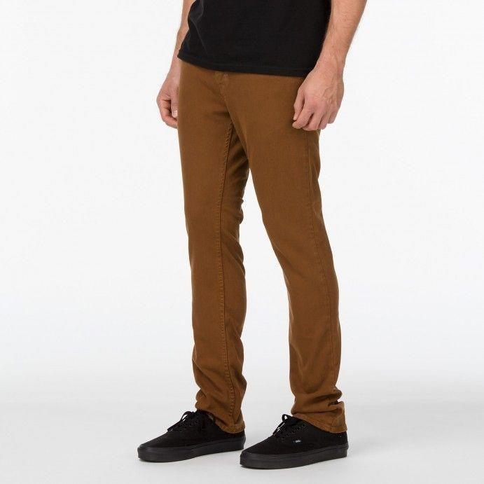 612be631c4 Spodnie Vans V76 Skinny Brązowe