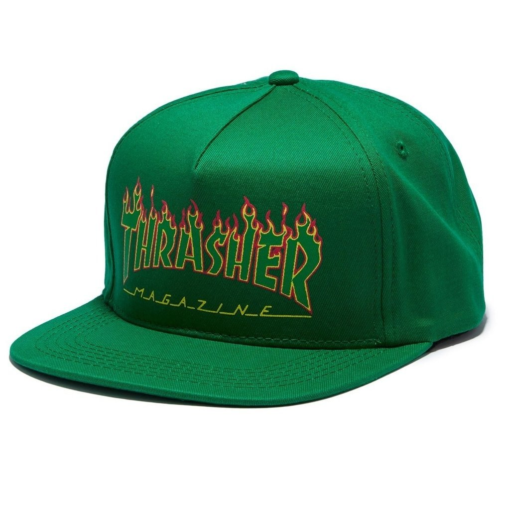 a5b5e3e0963 Thrasher Skategoat Wool Blend Snap Blk green
