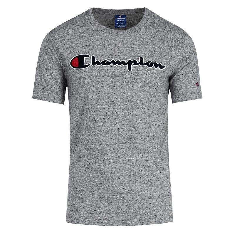 388b8bf84 champion chenille logo t-shirt grey | Clothes \ T-shirts \ T-Shirts ...