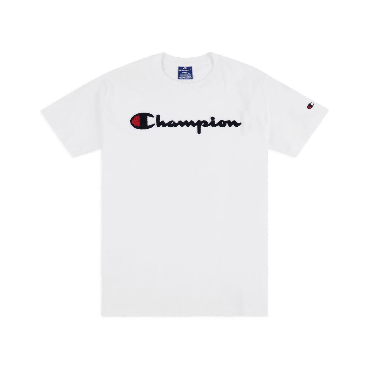 b60945a7d champion chenille logo t-shirt white | Clothes \ T-shirts \ T-Shirts ...