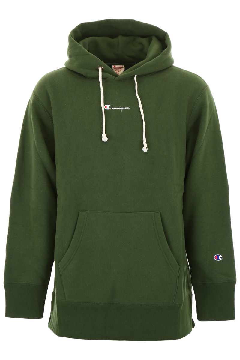 92e412351ee0 champion hooded full zip reverse weave (oversize fit) green