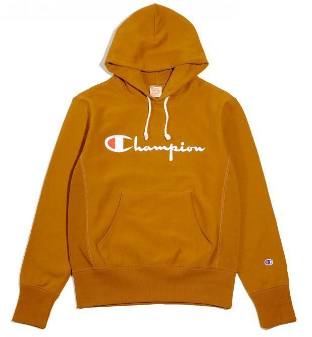 champion hooded sweatshirt reverse weave brązowy brands champion