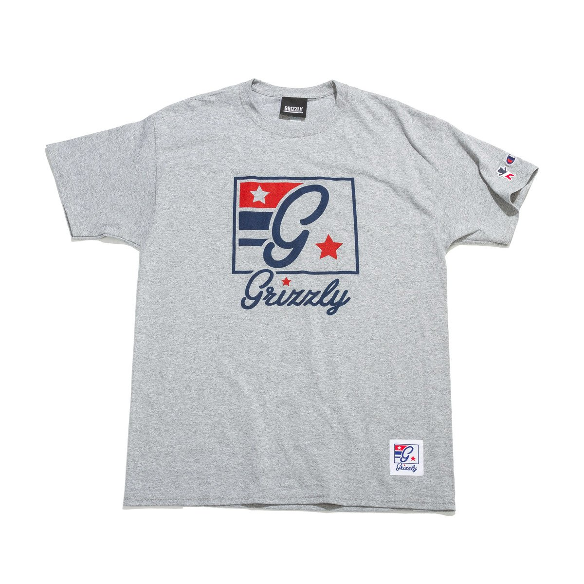 82574f14 champion x grizzly hardwood classic tee heather grey grey | Clothes \ T- shirts \ T-Shirts SALE \ Sale 50% -70% \ T-Shirts Brands \ Champion Odzież  ...