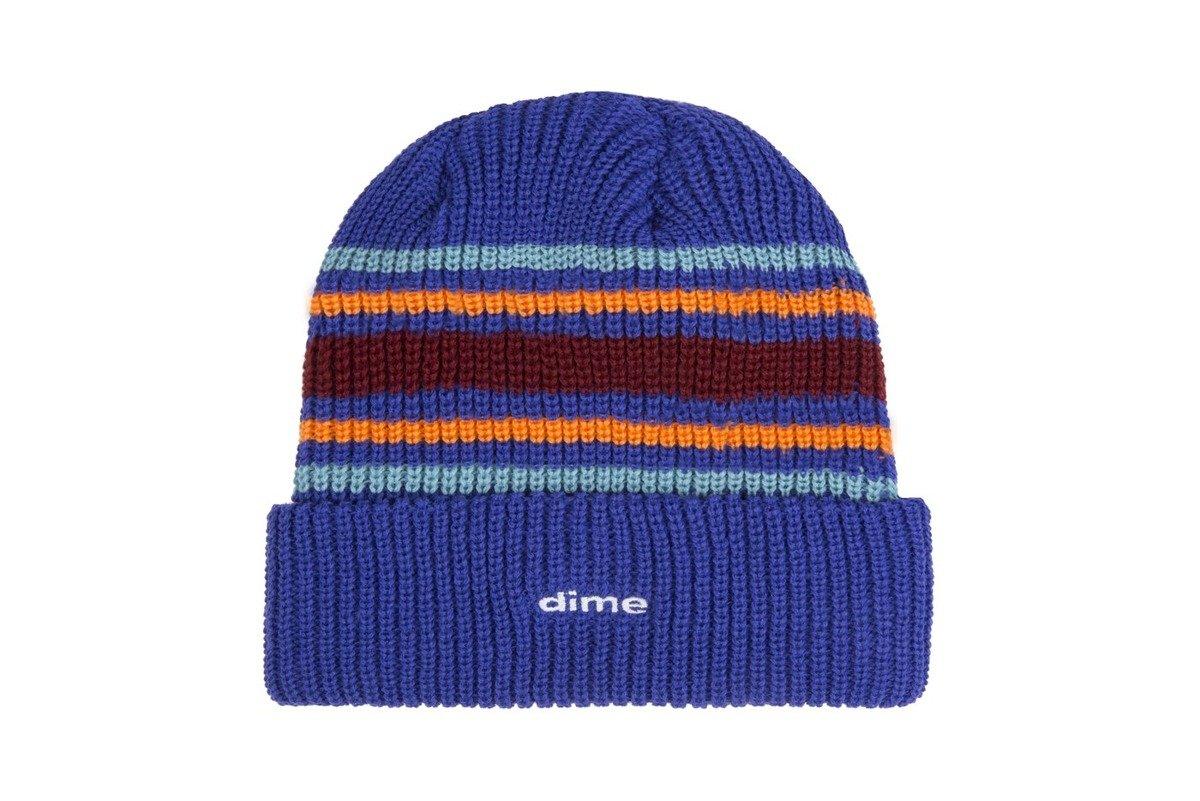 261d0dc9744 dime striped beanie blue