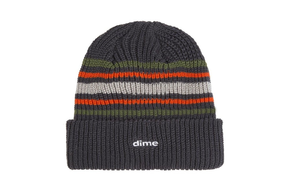 9ba350dd9bd dime striped beanie charcoal