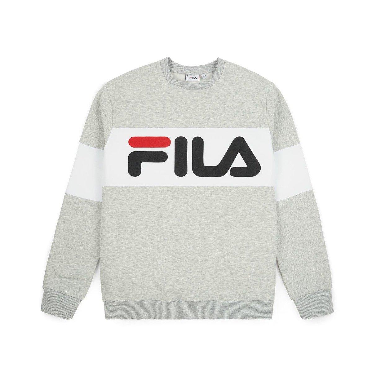 cf24d307b4a fila straight blocked crewneck grey | SALE \ Sale 50% -70% \  Sweatshirts/Hoods SALE \ Sale - 40% \ Sweatshirts/Hoods Clothes \ Bluzy \  Crewneck Brands ...