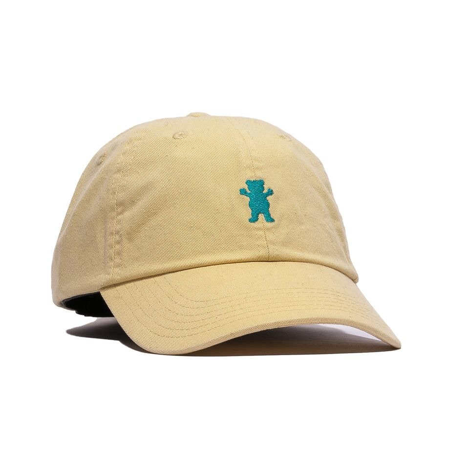 6ab6bd6168a grizzly og dad bear logo hat yellow   blue