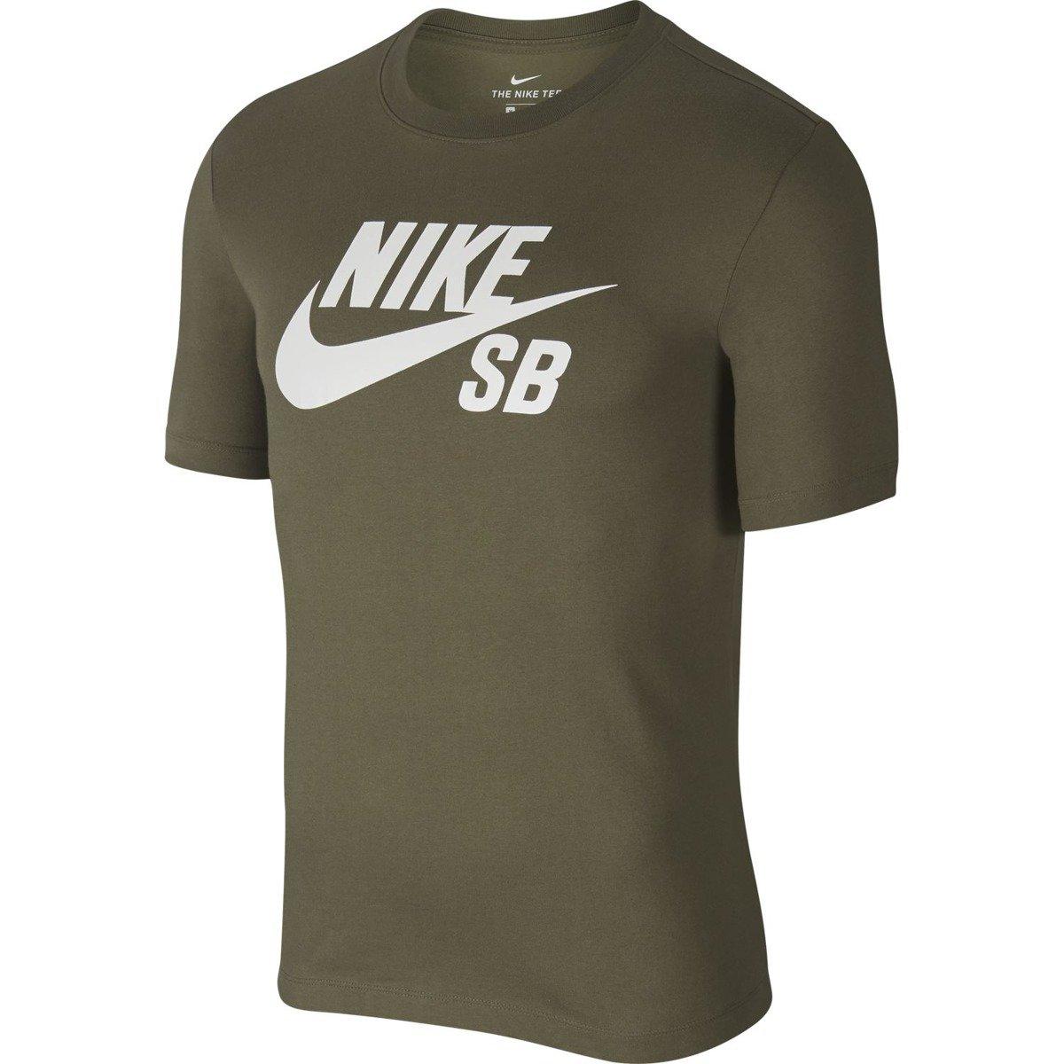 296547057 nike sb dry tee dfct logo Medium Olive/white green | Clothes \ T-shirts \ T- Shirts Brands \ Nike SB | Skateshop Miniramp.pl