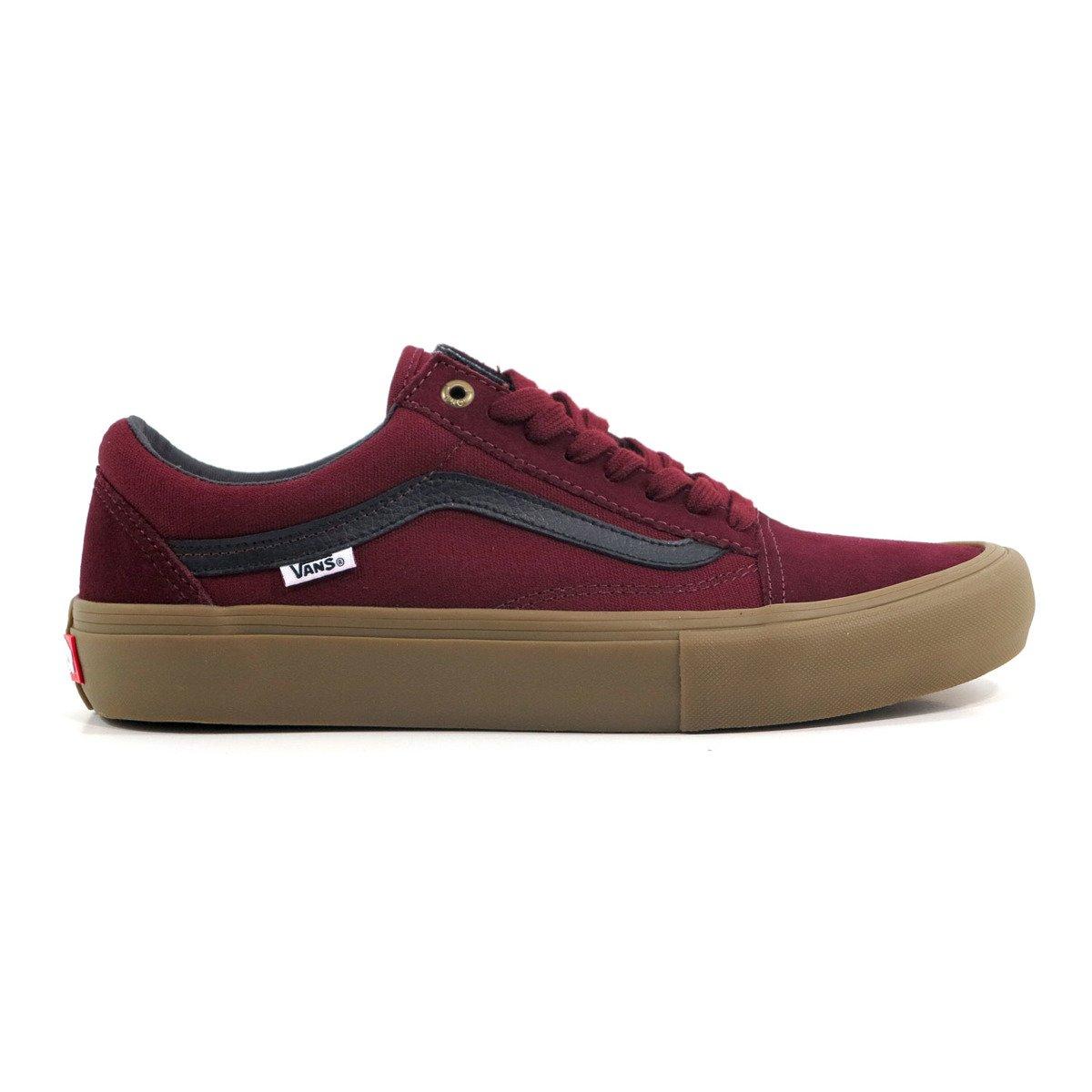 7999c648ea99ae shoes vans old skool pro port black gum burgundy