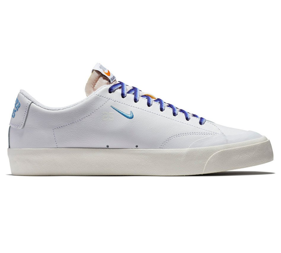 186837c2ebc6 quartersnacks x nike sb zoom blazer low xt – white   university blue   sail  Click to zoom ...