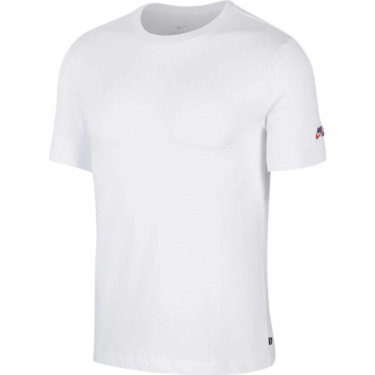 65438f8a t shirt Nike Sb Tee Essential white white | Clothes \ T-shirts \ T ...