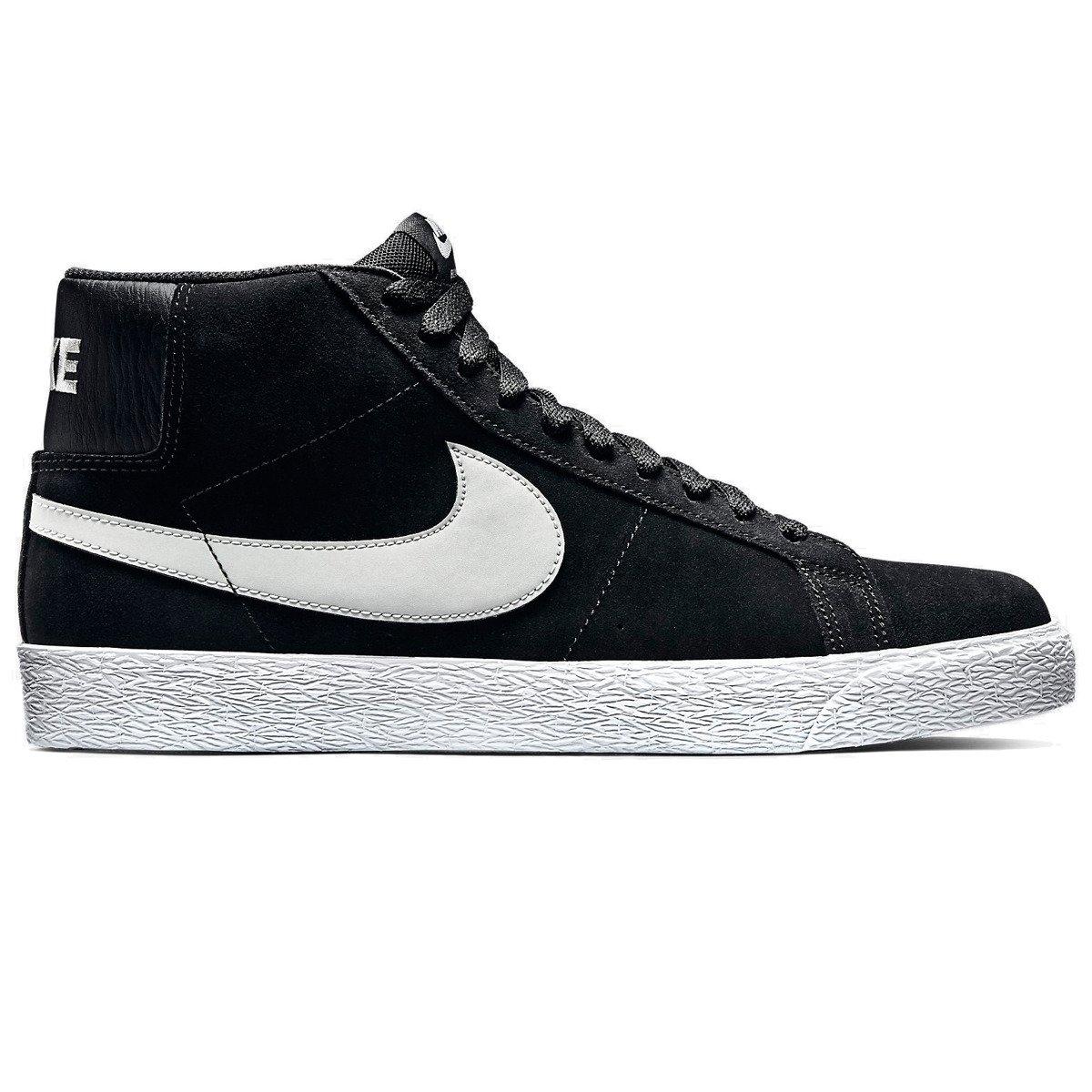 uważaj na cała kolekcja szczegółowy wygląd buty nike sb blazer premium se black/base grey-white