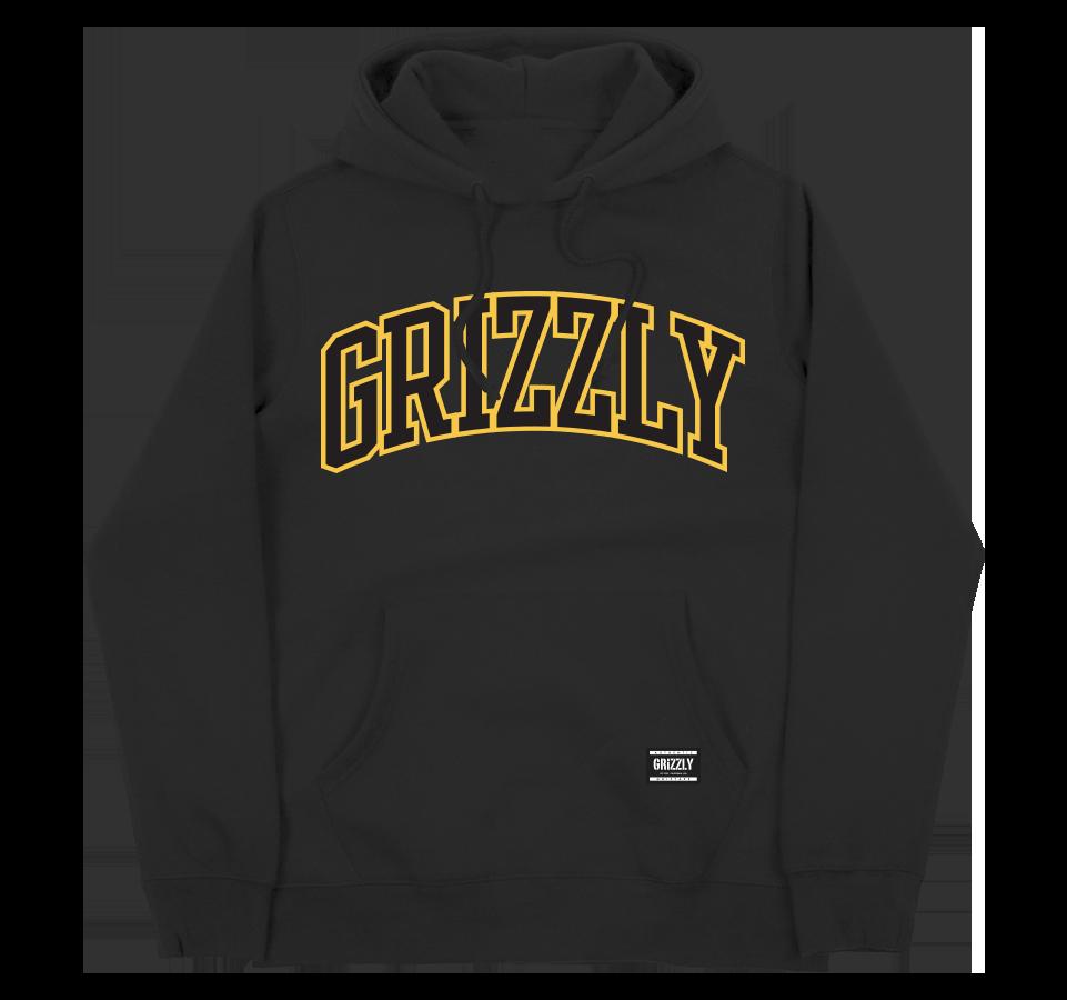 bluza grizzly University Hoodie black
