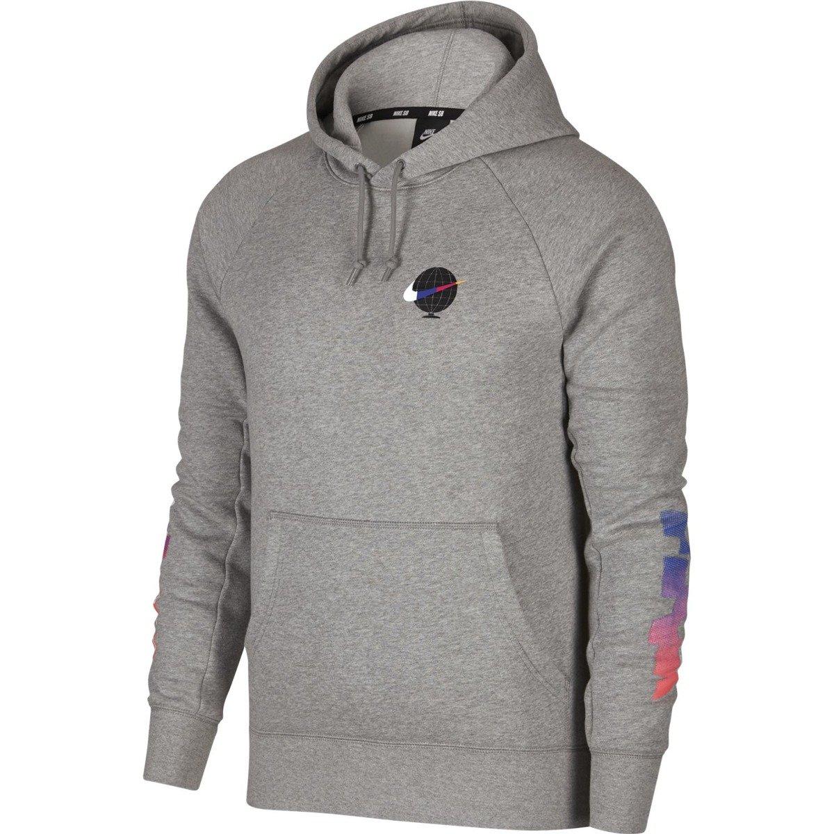 Miniramp Skateshop bluza nike sb icon hoodie gfx dk grey heather white 33b28f868
