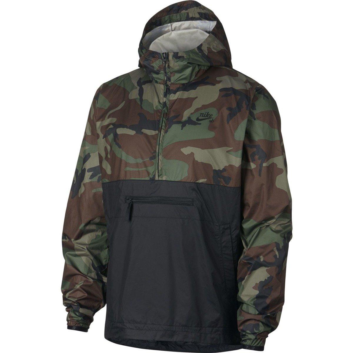 b8506779d Miniramp Skateshop nike sb Anorak Jacket Camo Medium Olive/black/black