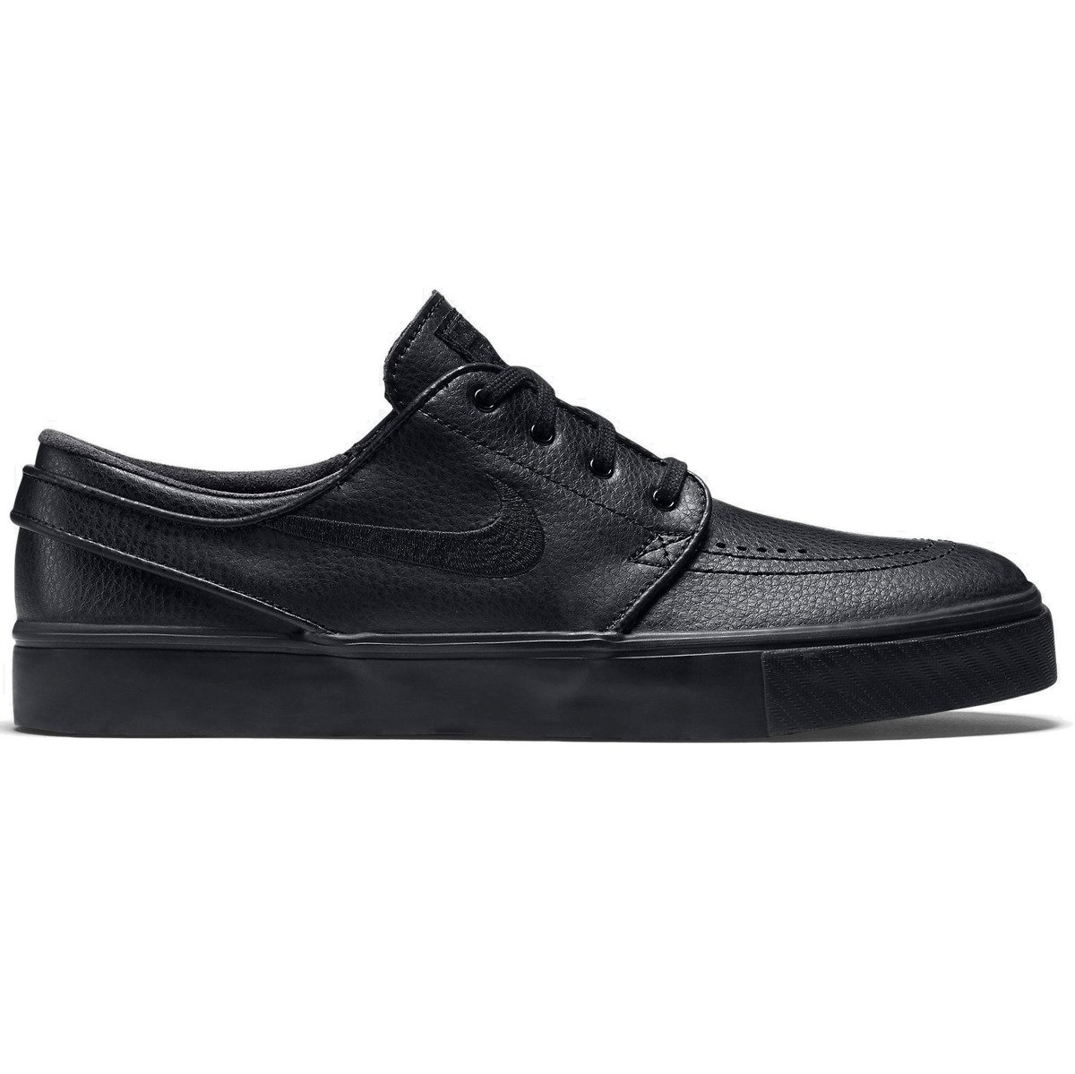 buty nike sb air zoom stefan janoski leather black/black-black-anthracite •  Miniramp Skateshop