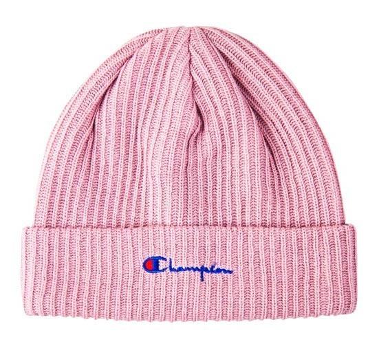champion reverse weave beanie pink  3b398b1d3597
