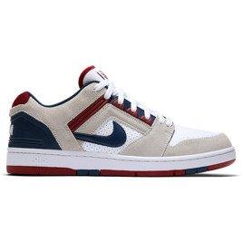 brand new 71c99 76c1d shoes Nike SB Air Force II Low Biel Red Crush Biel Blue Void