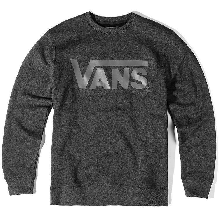 105bb8d4ba063 BLUZA VANS CLASSIC CREW BLACK HTHR/GRAPHITE | Brands \ Vans Clothes ...