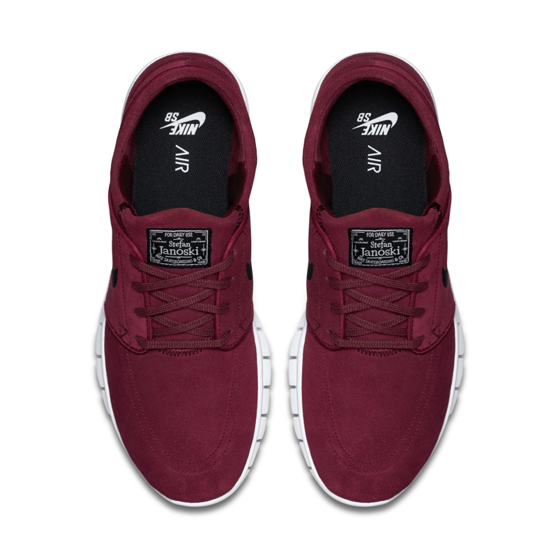 size 7 new product online retailer Buty Nike SB Stefan Janoski Max Suede Team Red/black-white