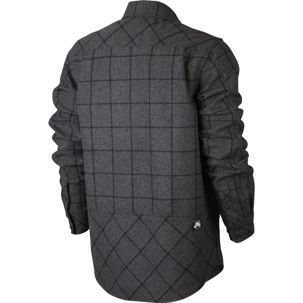 9c6a864b090ba ... Koszula Nike SB Holgate Yarn Dye Wool Long-Sleeve Shirt Buffalo  Charcoal Heathr Click to zoom