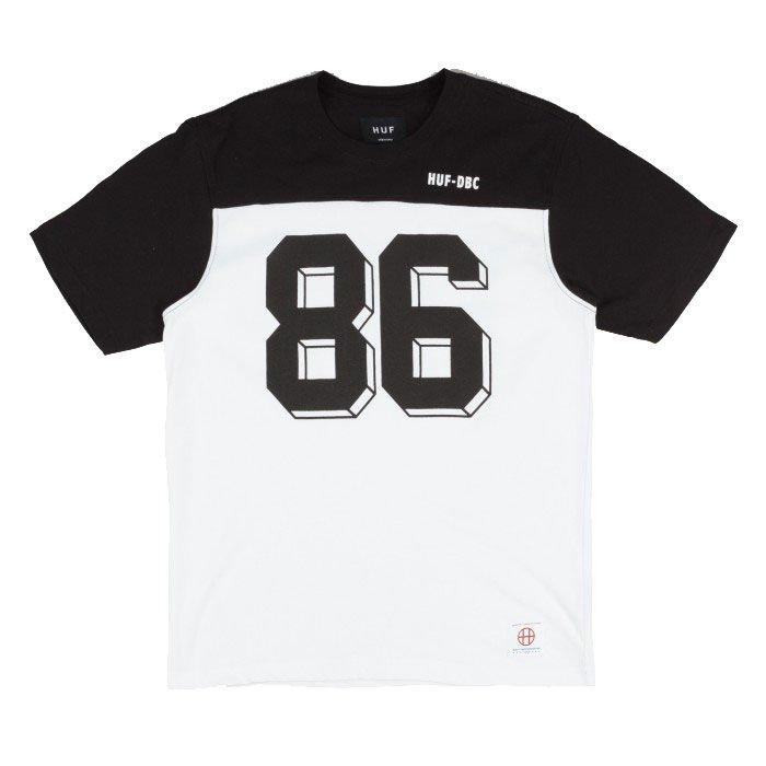 f87bcaf886f Koszulka Huf Franco Short Sleeve Football Jersey - Black   White ...
