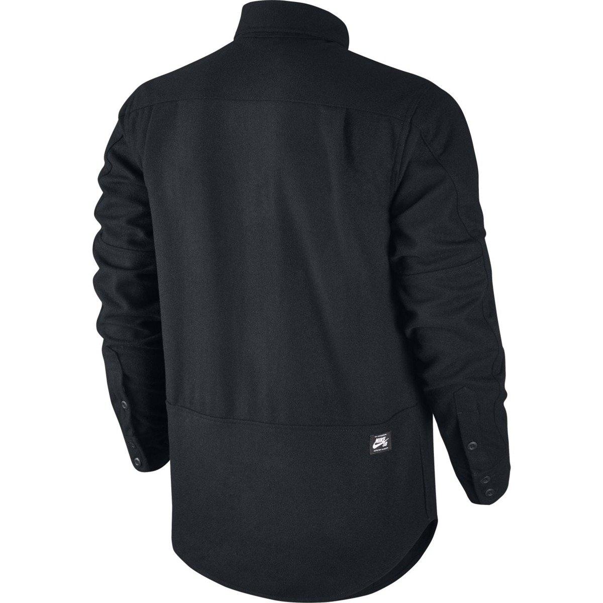 3b5140bd2e57a ... Nike SB Holgate Yarn Dye Wool Long-Sleeve Shirt Buffalo Black Click to  zoom