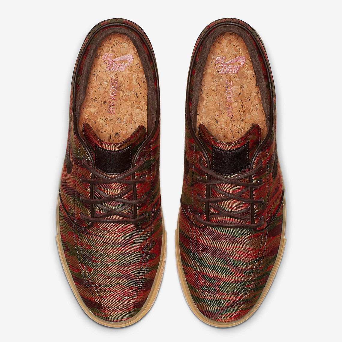 the best attitude ff741 971b0 ... Nike Zoom Stefan Janoski multi-color velvet brown-gum yellow Click to  zoom ...