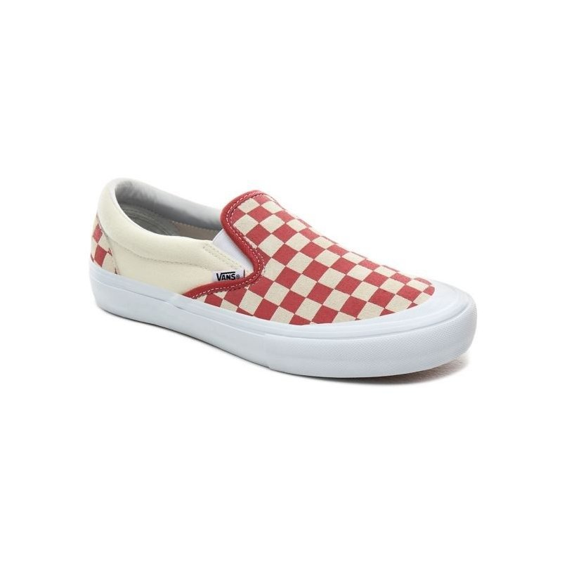 Vans Slip On Pro Shoes CheckerboardMineral Red