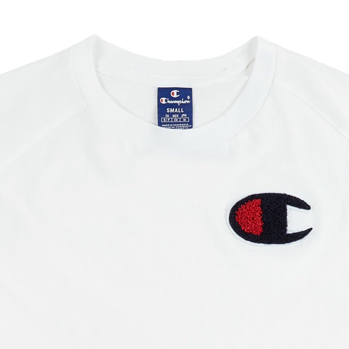 eec682008 champion chenille C logo t-shirt white | Clothes \ T-shirts \ T ...
