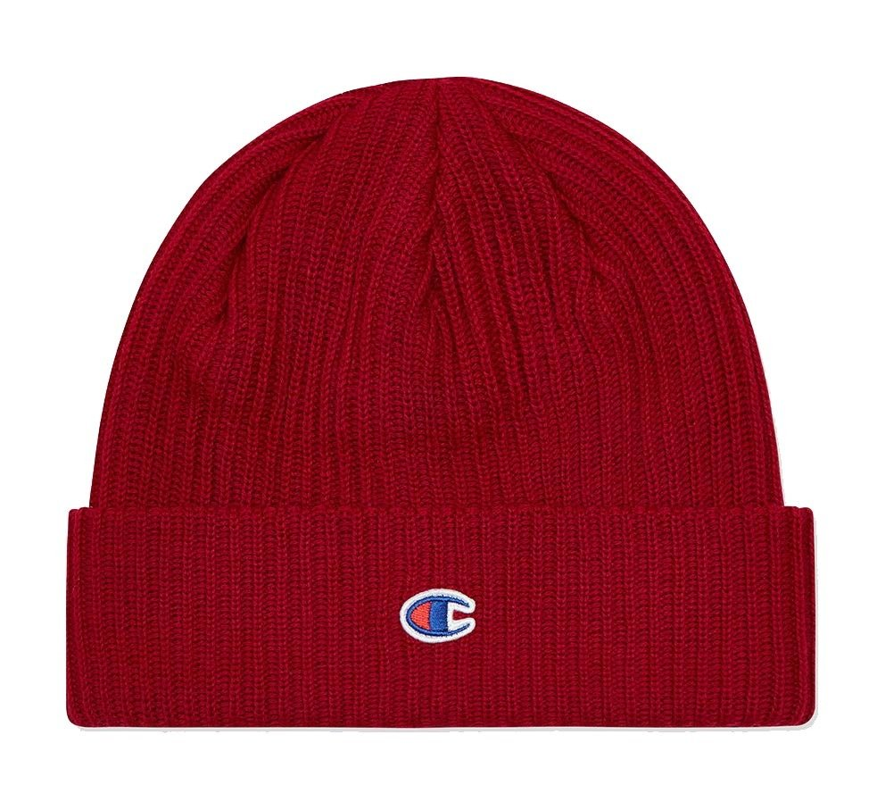 champion reverse weave logo beanie red Click to zoom 861bf9d7e74