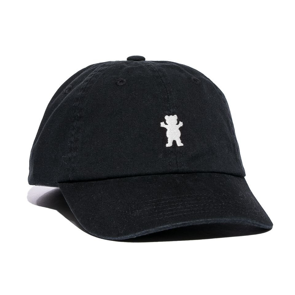 2f0a557104a grizzly og dad bear logo hat black   white Click to zoom