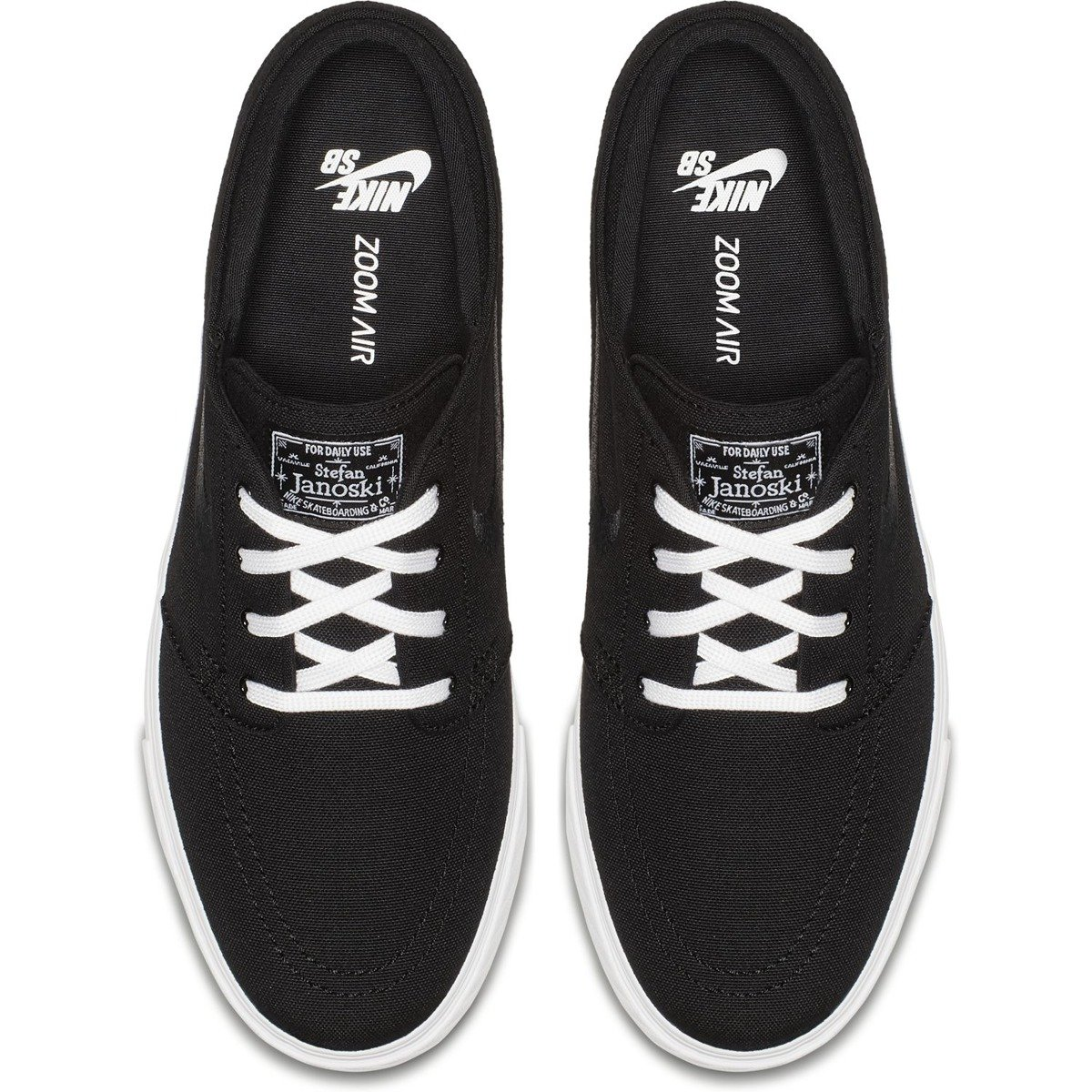 the latest bb685 52069 ... nike janoski canvas black black-white Click to zoom ...
