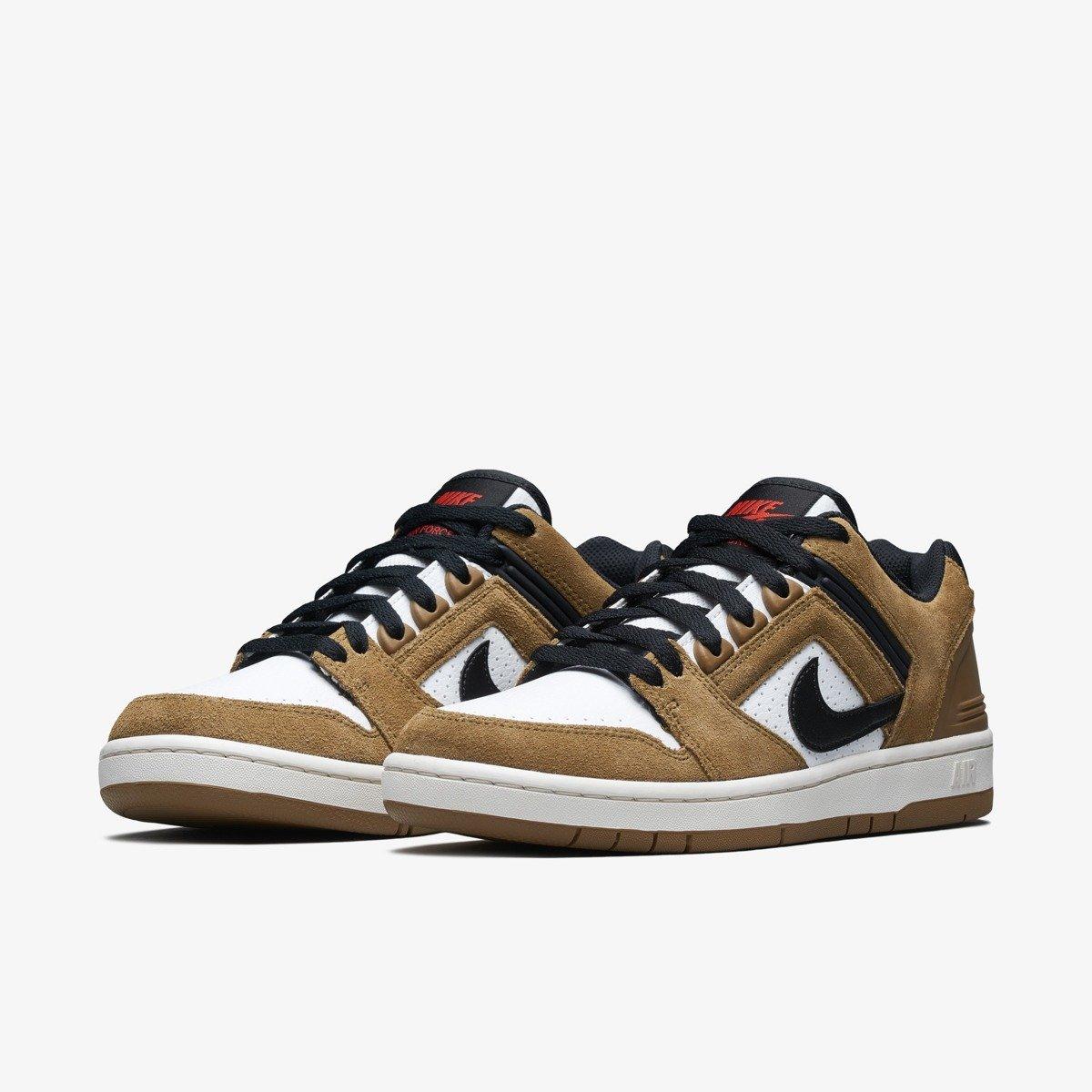 shoes Nike SB Air Force II Low lichen brownblack white phantom