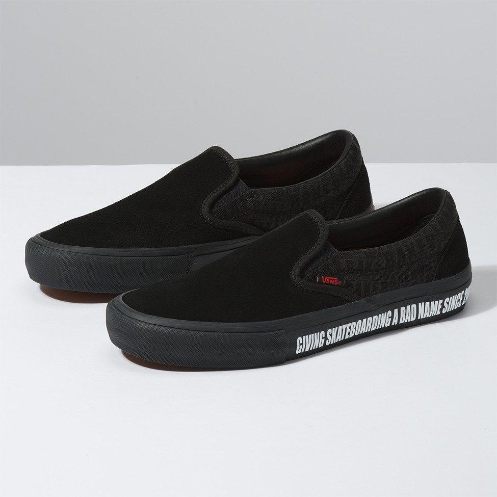 shoes Vans Slip On Pro (BAKER) BLACKBlack