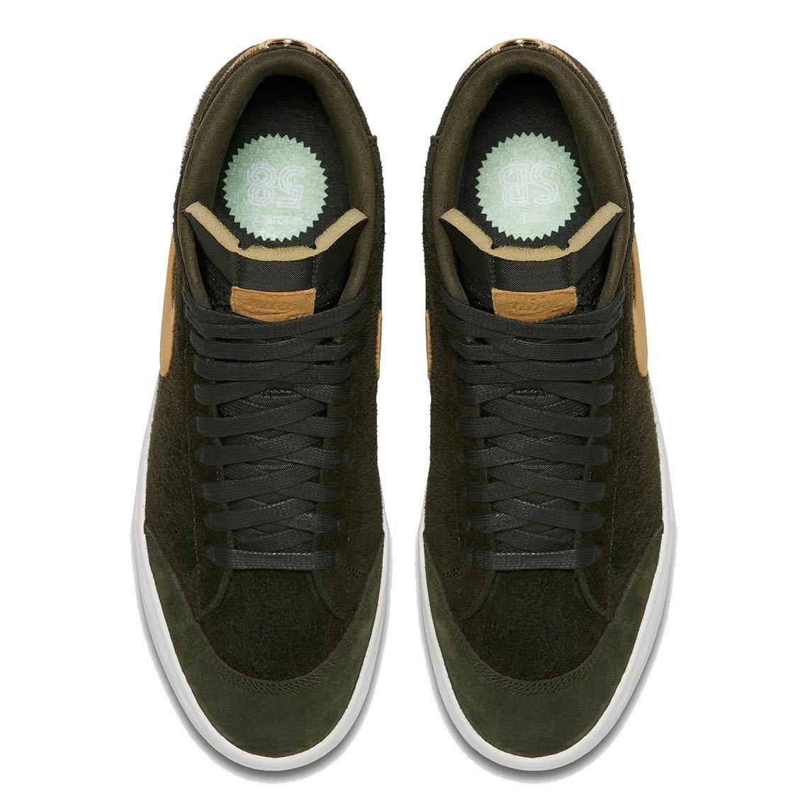 8c8f2b043 shoes nike sb x we club 58 zoom blazer mid qs sequoia / gold   Shoes ...
