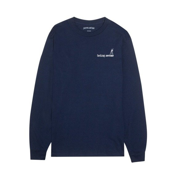 fucking awesome wizards l/s tee navy