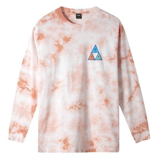 ACID SKULL TRIPLE TRIANGLE LONG SLEEVE T-SHIRT coral pink