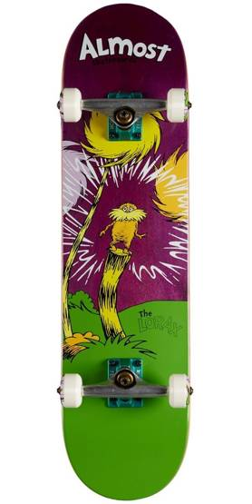 Almost x Dr. Seuss Lorax Resin Premium Skateboard Complete - Purple - 8.00""