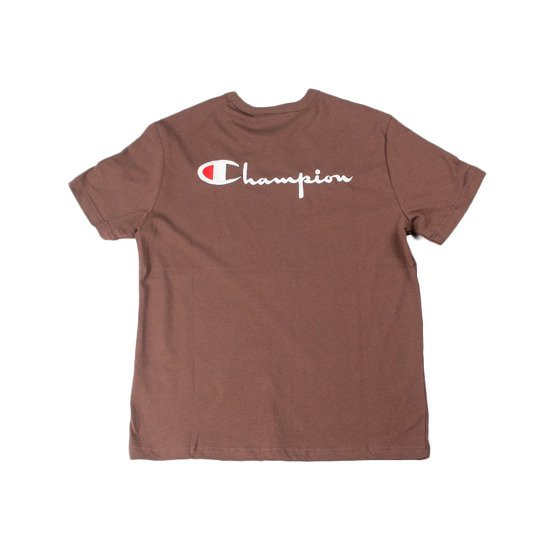 Champion Reverse Weave Small Logo T-Shirt brown