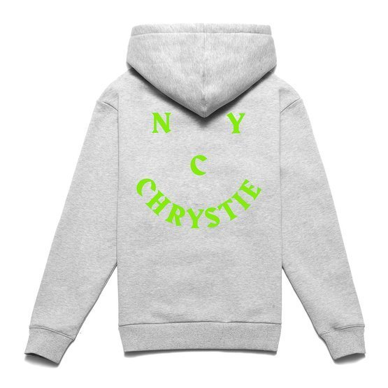 Chrystie NYC - Smile Logo Hoodieheather Grey heather grey