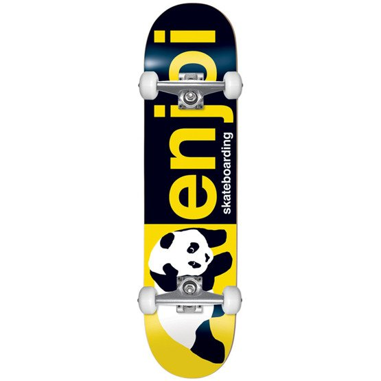 Enjoi Half and Half First Push Complete Skateboard Black/Yellow 8.0