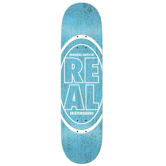Real Skateboard Deck Stacked Oval Floral Pink 8.06""