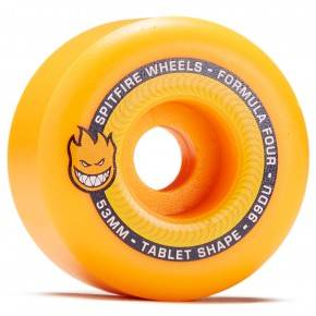 SPITFIRE FORMULA FOUR TABLET WHEELS (NEON ORANGE) 53MM