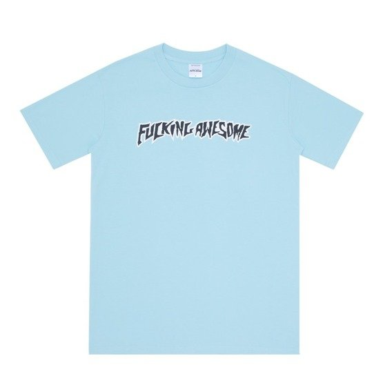 fucking awesome puff outline logo tee teal