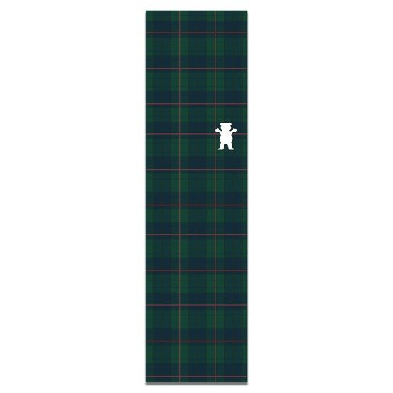 grizzly plaid cutout griptape green